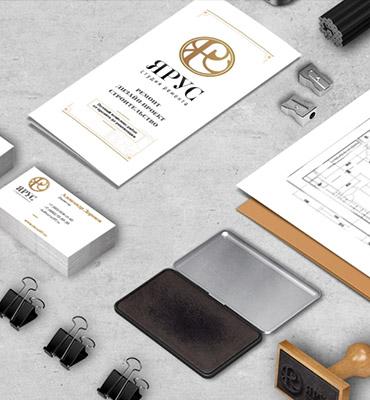 Разработка логотипа фирменного стиля для студии ремонта «Ярус»