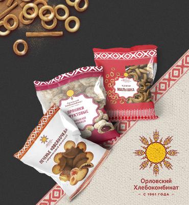 Новый логотип, фирменный стиль и упаковка Орловского Хлебокомбината