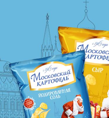 Упаковка для чипсов «Московский картофель»
